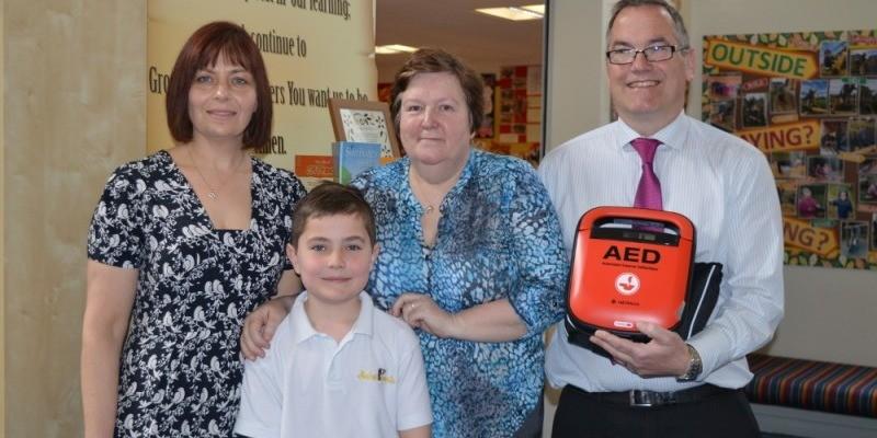 Aspire Donate Defibrillator to St. Francis Primary School,