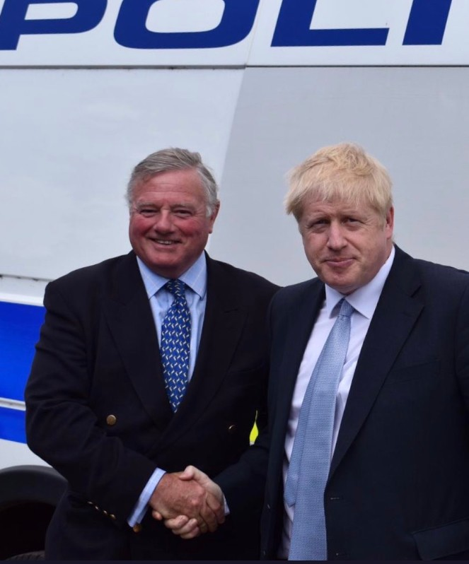 Jonathon Seed with PM Boris Johnson