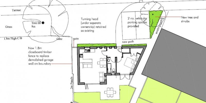 New single storey dwelling permitted in Dorset