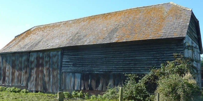 Conversion of barn in the AONB with additional new building approved