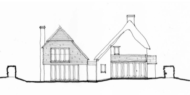 Large extension to thatched dwelling approved in the AONB