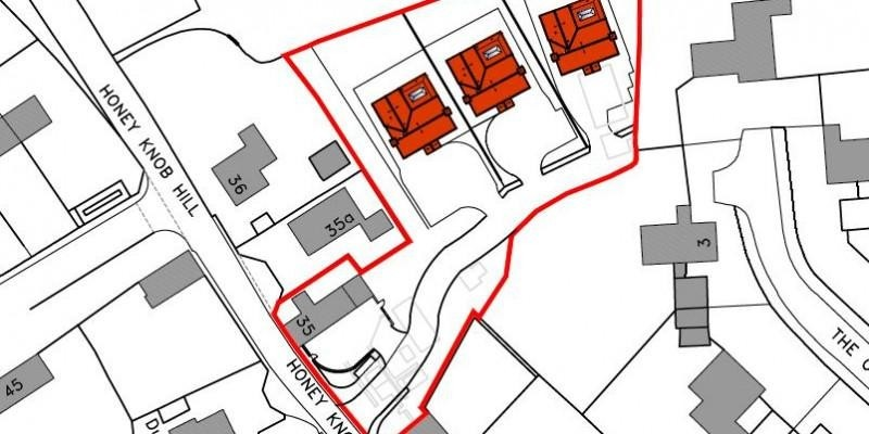 Outline planning for 3 dwellings permitted on garden land in Wiltshire