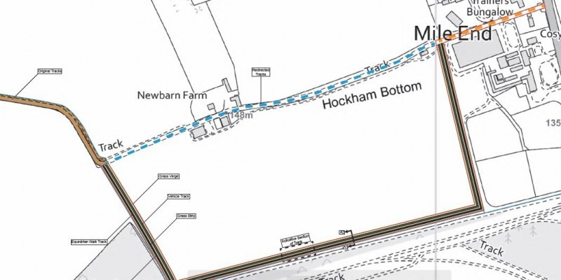 New diversion track in the Berkshire AONB permitted.