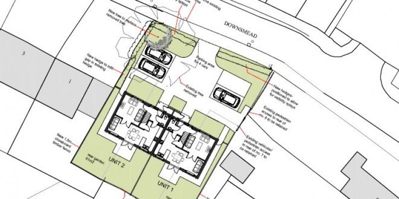Pair of dwellings approved in Wiltshire
