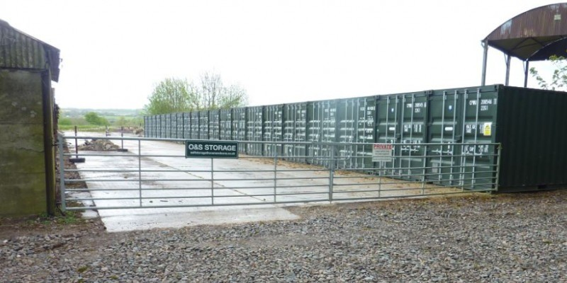 Shipping container storage use permitted in the AONB