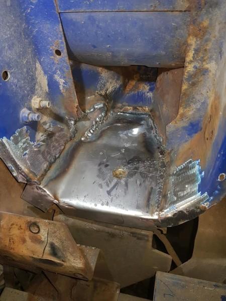 Broken engine mount welds
