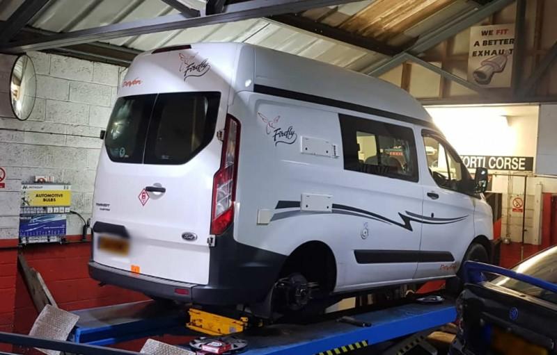 commercial van at AP servicing